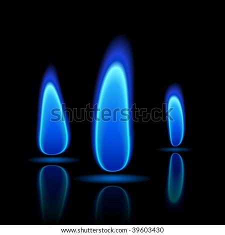 Gas flame. Vector.