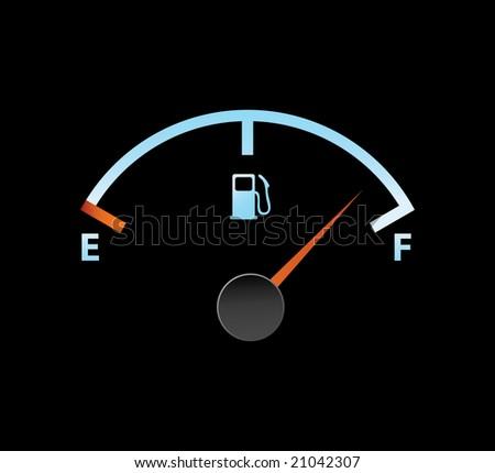 gas full meter in blue colors