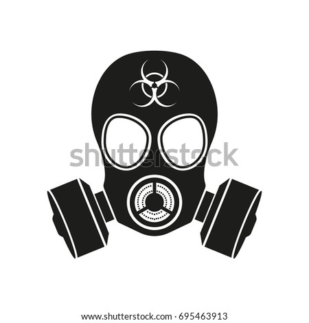 gas mask bio hazzard vector