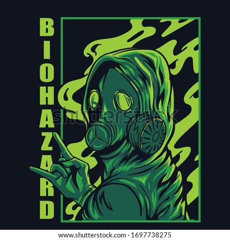 gas mask concept illustration