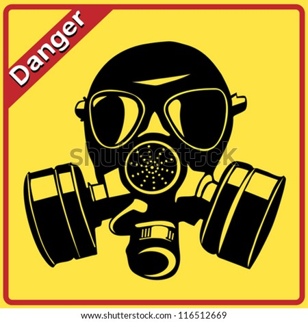 gas mask danger sign