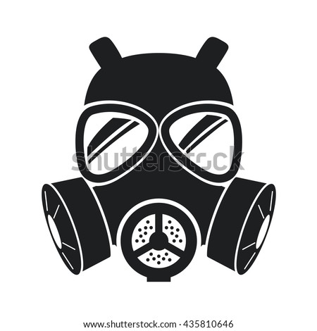 gas mask icon isolated on white
