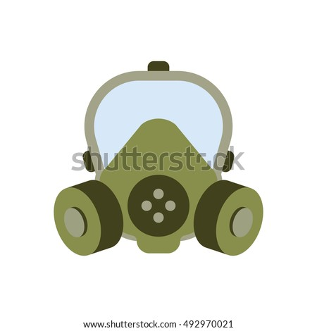 gas mask isolated vector