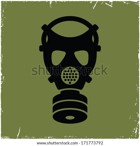 gas mask on old background with