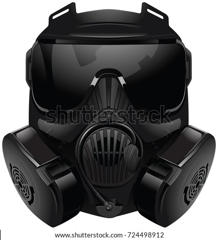 gas mask on white background