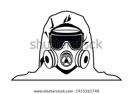 gas mask sign iconblack and
