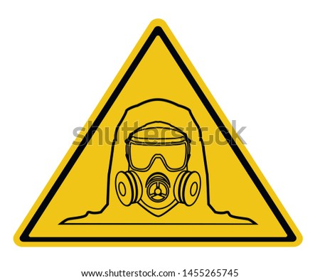 gas mask sign iconthe man in