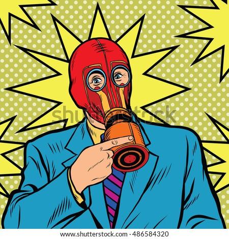 gas mask  vintage rubber pop