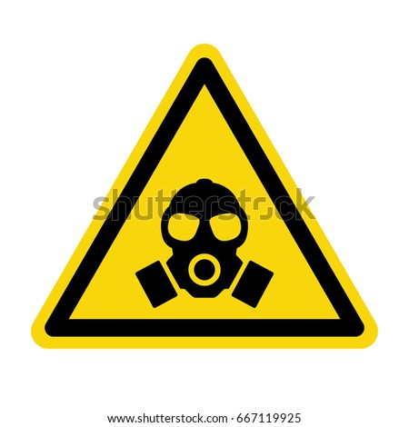 Gas mask. Warning sign, symbol, vector, illustration
