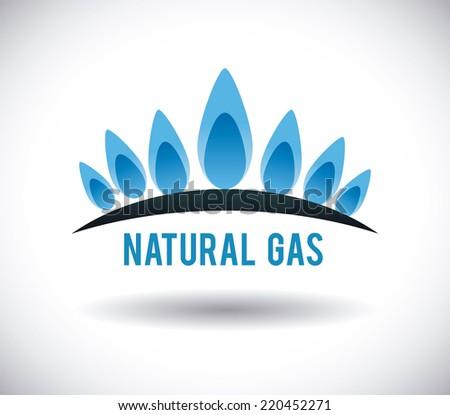 gas natural graphic design vector illustration