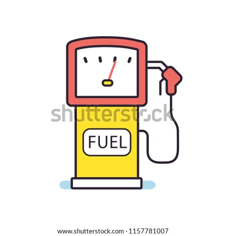 Gas petrol fuel pump icon