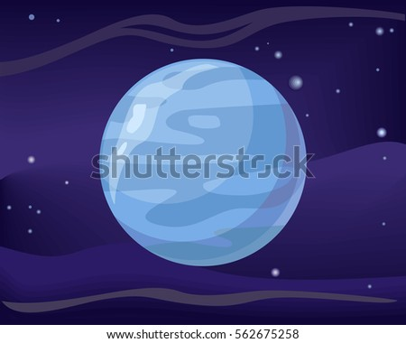 gas planet neptune in space