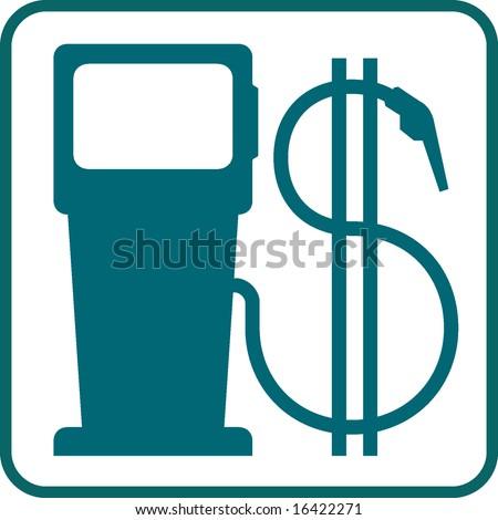 gas pump and dollar symbol