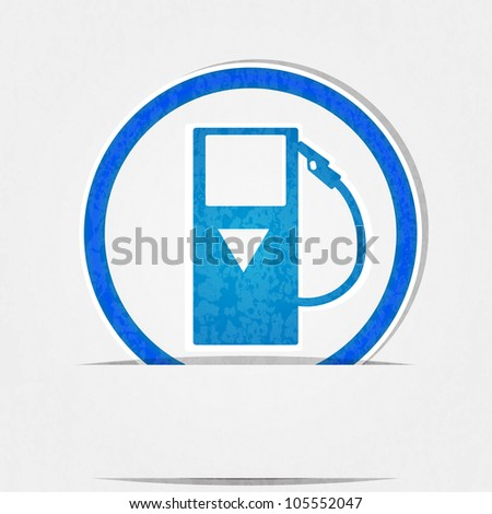 gas pump icon is blue on a white background in terms of compliance.