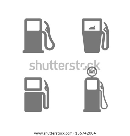 gas pump icons vector