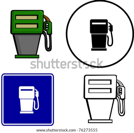 gas pump illustration sign and symbol