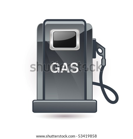 Gas station - stock vector