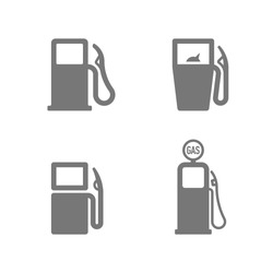 Gas Station icons. Fuel, gas, gasoline, oil, petrol signs. Vector illustration.