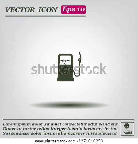 gas station - vector icon
