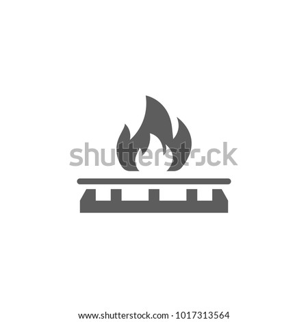 gas stove icon. Element of oil and gas icon. Premium quality graphic design icon. Signs and symbols collection icon for websites, web design, mobile app on white background