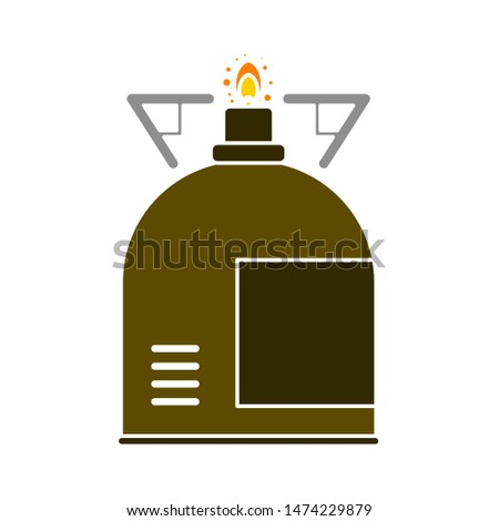 Gas stove icon. flat illustration of Gas stove vector icon. Gas stove sign symbol