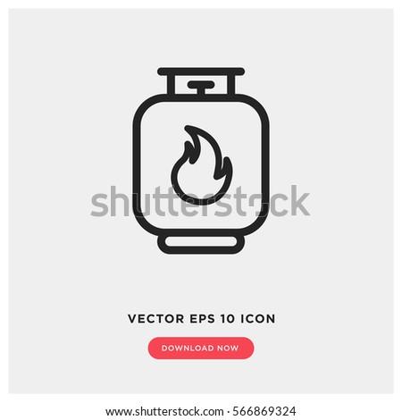 gas vector icon modern  simple