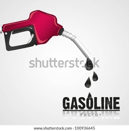 gasoline dispenser leaking, isolated on white background