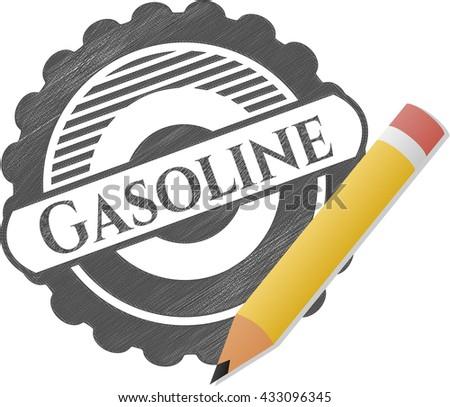 Gasoline draw (pencil strokes)
