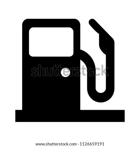 Gasoline pump illustration - Gas Station sign, vector fuel sign