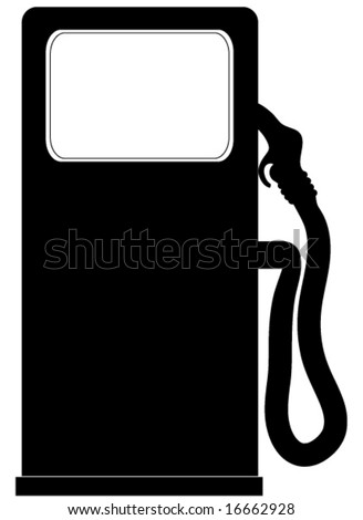 Gasoline pump vector.
