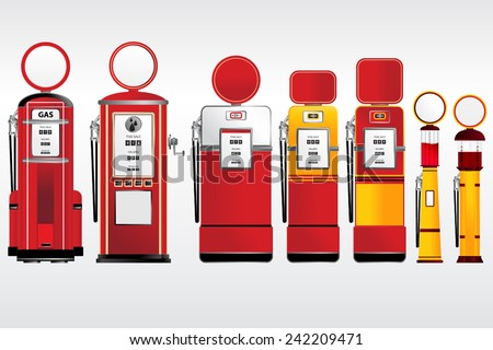 gasoline pumps retro and...