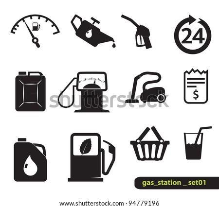 Gasoline station icons