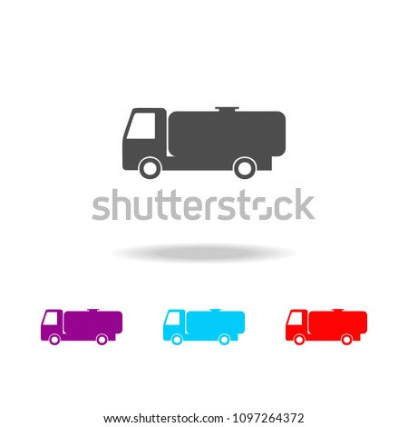 Gasoline tanker icon. Elements of cars in multi colored icons. Premium quality graphic design icon. Simple icon for websites, web design, mobile app, info graphics on white background