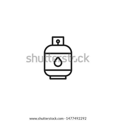 Gasoline vector icon. Gas Cylinder Icon. Liquid Propane Gas icon Illustration symbol design. Modern, simple flat vector illustration for web site or mobile app ストックフォト ©
