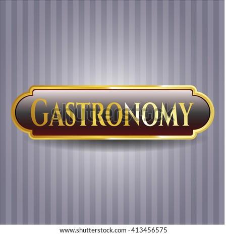 Gastronomy golden emblem