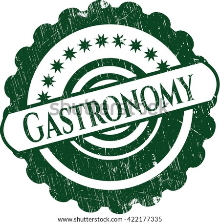 Gastronomy rubber grunge seal