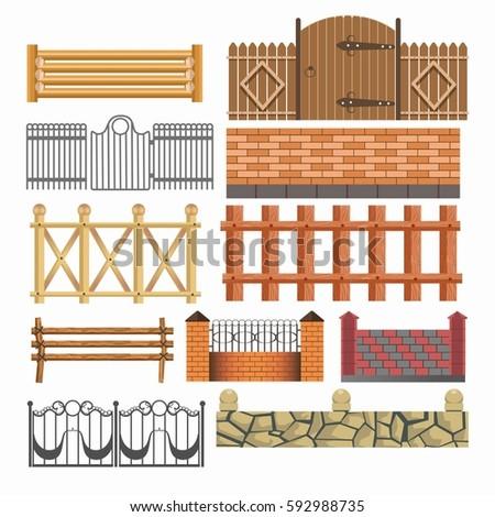 gates  house fences of metal