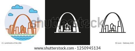 gateway arch icon   st louis