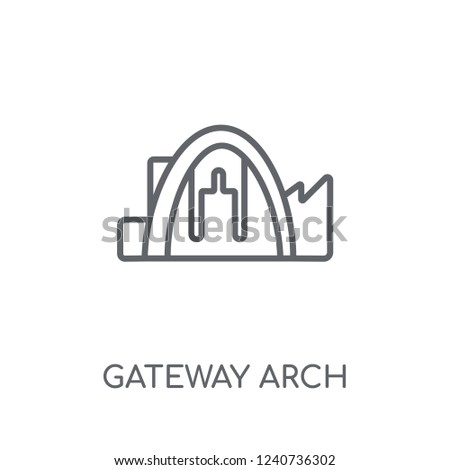 gateway arch linear icon
