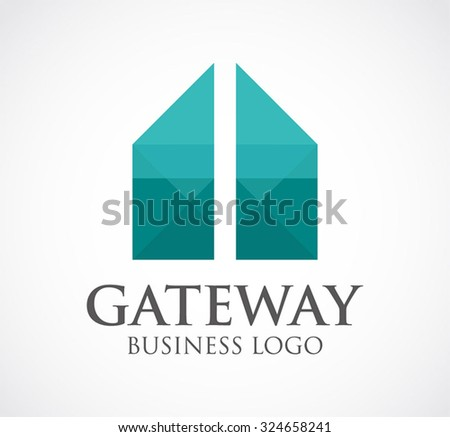 Top result 60 awesome business gateway business plan template photos stock vector gateway entrance door abstract vector and logo design or template geometric business icon of saigontimesfo