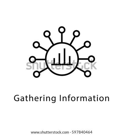 Gathering Information Vector Line Icon