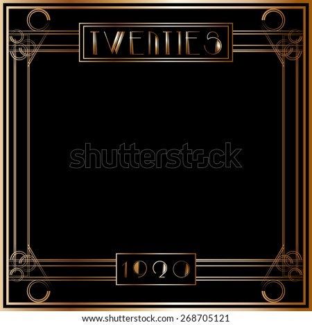 Vector Images Illustrations And Cliparts Gatsby Art Deco Style