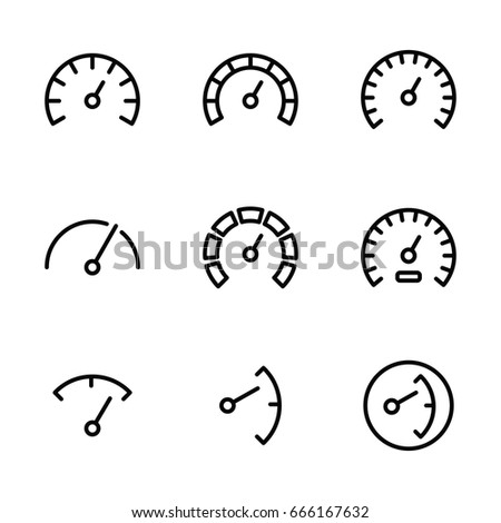 gauge icons set on white background