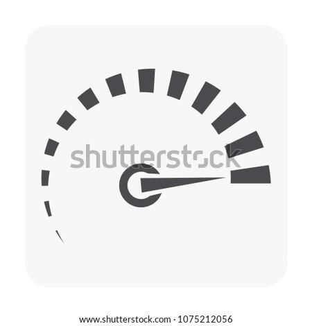 Gauge meter icon on white.