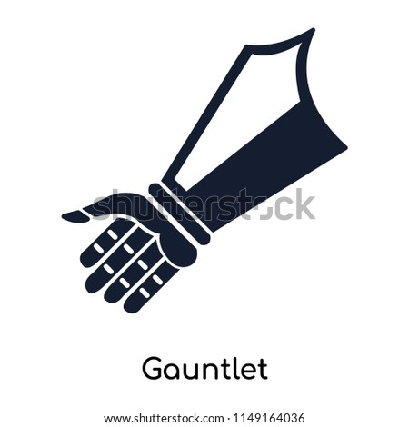 Stock Photo Gauntlet icon vector isolated on white background for your web and mobile app design, Gauntlet logo concept