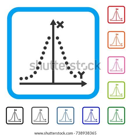 gauss plot icon flat grey