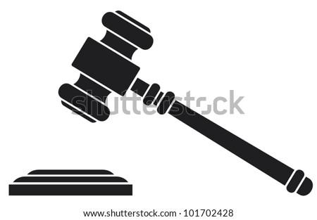 gavel - hammer of judge or auctioneer