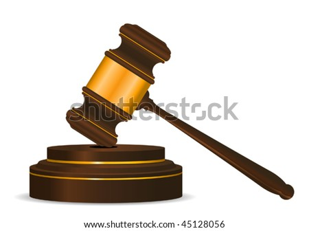 Gavel symbol as a concept of law or auction. Jpeg version is also available