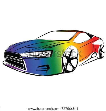 GAY CAR VECTOR