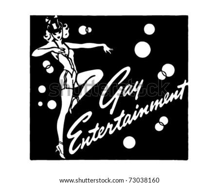 Gay Entertainment 3 - Retro Ad Art Banner